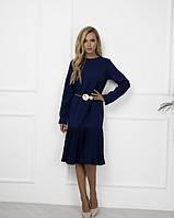 Платье женское ретро синего цвета