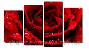 """Набор алмазной вышивки (мозаики) триптих """"Красная роза"""""""