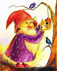 """Набор алмазной вышивки (мозаики) """"Волшебник, дарящий счастье"""""""