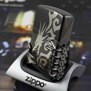 "Зажигалка"" Zippo Dragon Tribal Black"" копия"