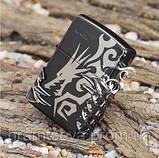 "Зажигалка"" Zippo Dragon Tribal Black"" копия, фото 2"