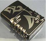 "Зажигалка"" Zippo Dragon Tribal Black"" копия, фото 6"