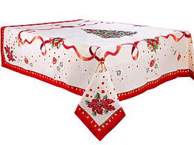 """Скатерть праздничная, гобелен с люрексом """"Navidad"""", размер 100х100 см"""