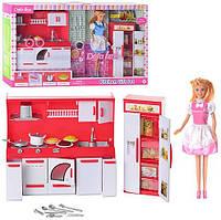Кукла DEFA с набором кухня. Детский подарочный комплект Кукла. Лялька. Куклы. Игрушки для девочек.