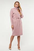 Модное женское платье длинный рукав размеры 50-58