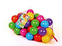 Шарики для сухих бассейнов,50 шт в сетке. Кульки для бассейну. Сухі бассейни. Мячики для бассейна.
