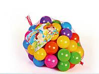 Шарики для сухих бассейнов, 60 мм 50 шт в сетке. Кульки для бассейну. Сухі бассейни. Мячики для бассейна.