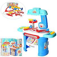 Детский набор доктора со столиком и медицинскими инструментами.Игра Больничка. Набір лікаря
