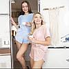 Плюшевая пижама (футболка и шорты) нежно-розовая, фото 2