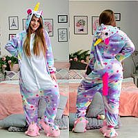 БЕЗ ПРЕДОПЛАТЫ! Пижама кигуруми единорог звездный. Кингуру костюм взрослый и детский
