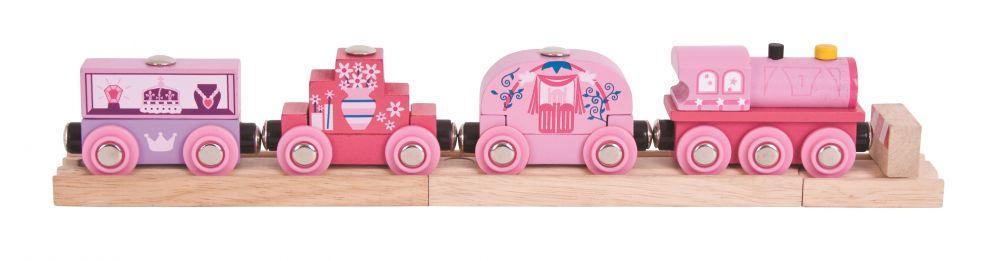 Розовый поезд принцессы Bigjigs Великобритания