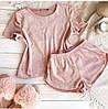 Плюшева піжама (футболка і шорти) ніжно-рожева, фото 5