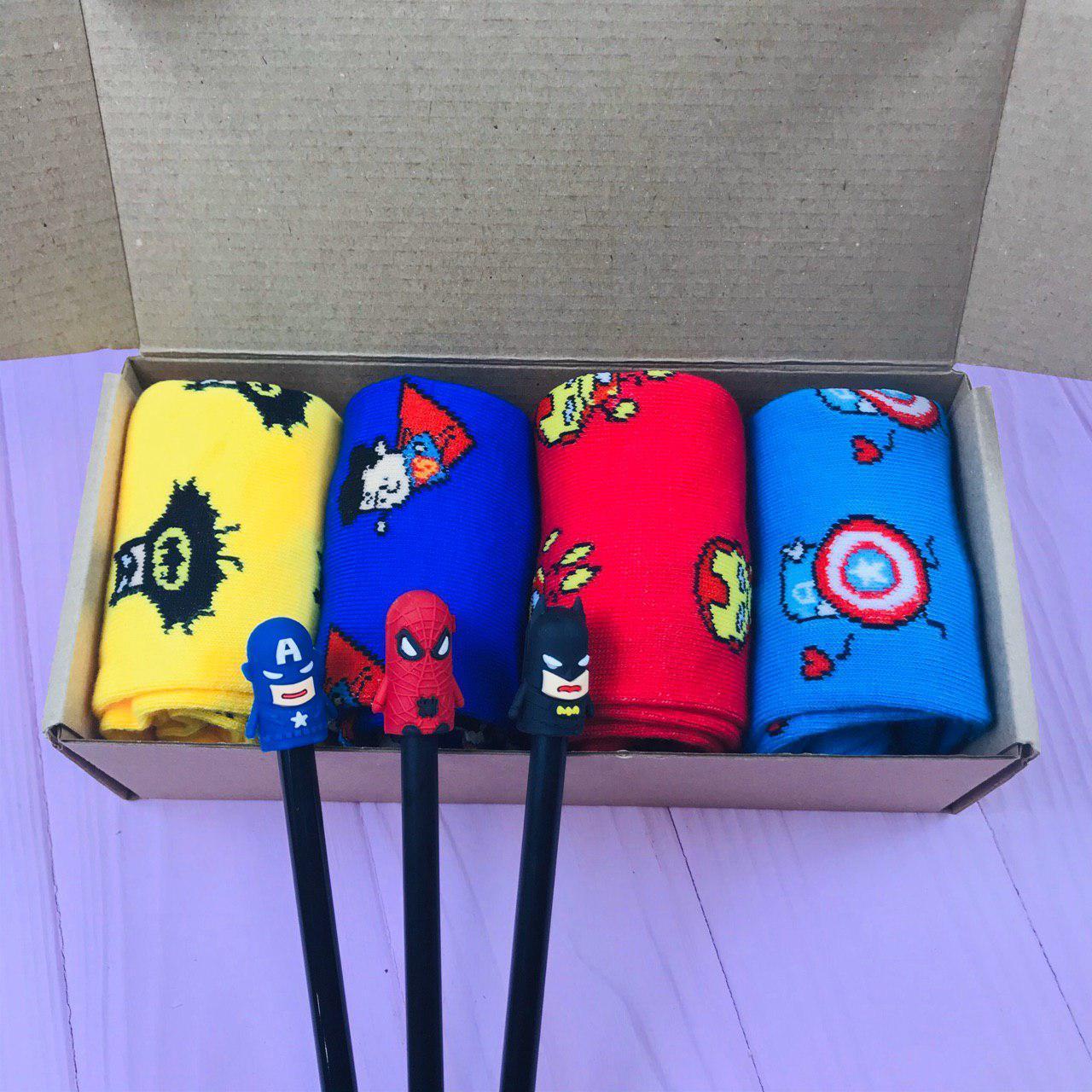 Подарунковий Набір City-A Box Бокс з Шкарпетками Marvel для Чоловіка і Жінки з 7 од №2373