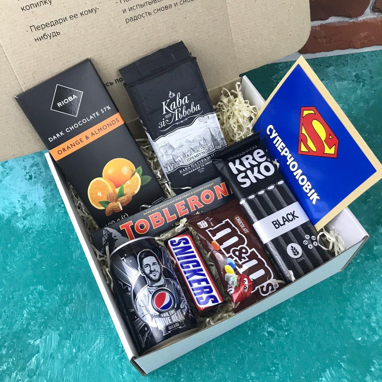 Подарунковий Набір City-A Box Бокс для Чоловіка Чоловіка з 8 од №2849