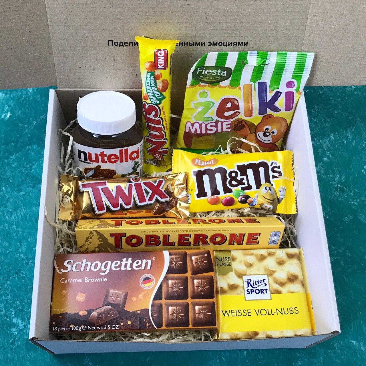 Подарунковий Набір City-A Box Бокс для Жінки Чоловіки Солодкий Sweet Box з 8 од №2859