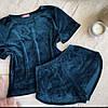 Плюшевая пижама (футболка и шорты) Морская волна, фото 2