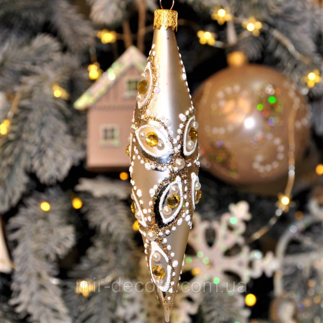 """Сосулька игрушка на новогоднюю елку """"Ромб"""""""