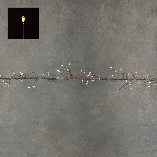 """Гирлянда-кластер, медная струна, """"Luca"""", 11 м, теплый белый"""