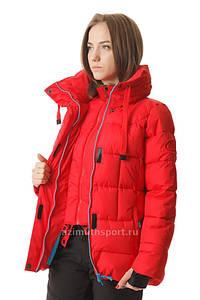 Женская удлиненная куртка Azimuth красная S/XL