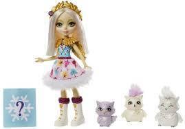 Кукла Enchantimals  Odele Owl Doll & Family Семья полярных сов с сюрпризом Mattel GJX46