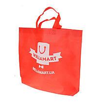Эко сумка для покупок фирменный тканевый шоппер Wellamart (красный)
