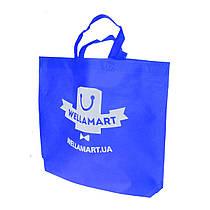Эко сумка для покупок фирменный тканевый шоппер Wellamart (синий)
