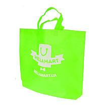 Эко сумка для покупок фирменный тканевый шоппер Wellamart (зеленый)