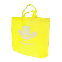 Эко сумка для покупок фирменный тканевый шоппер Wellamart (желтый)