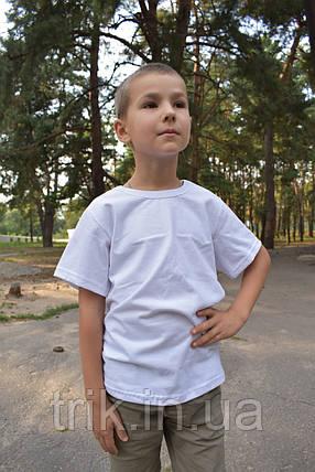 Детская белая футболка для мальчика бейка средняя, фото 2