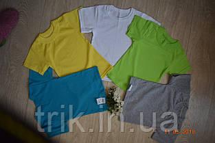 Детская футболка для мальчика желтая лимонная бейка широкая, фото 3