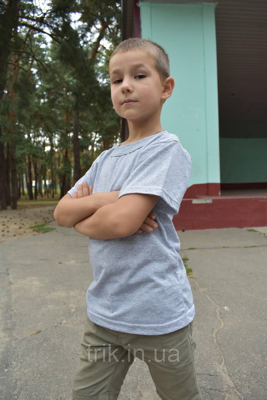 Футболка детская серая для мальчика