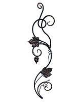 Виноградная лоза с листьями и виноградом левая/правая