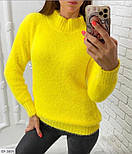Женский свитер травка из ангоры Оверсайз, фото 3