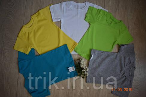 Детские желтые футболки для девочек бейка широкая, фото 2
