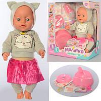 Пупс беби борн, кукла baby born функциональный, аксессуары, горшок, пьет - писяет, YL037, BL037