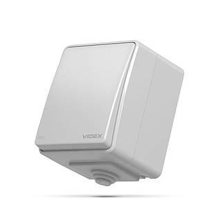 VIDEX BINERA IP65 Выключатель наружный одноклавишный серый VF-BNW11-G 25183