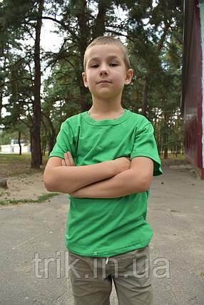 Футболка детская зелёная для мальчика бейка средняя, фото 2