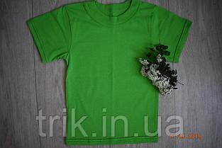 Футболка детская зелёная для девочки бейка средняя, фото 2