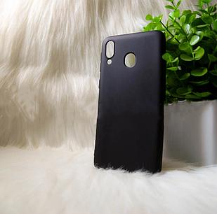 """Силіконовий чохол Samsung M20 2019 """"Cool Black Чорний (black)"""
