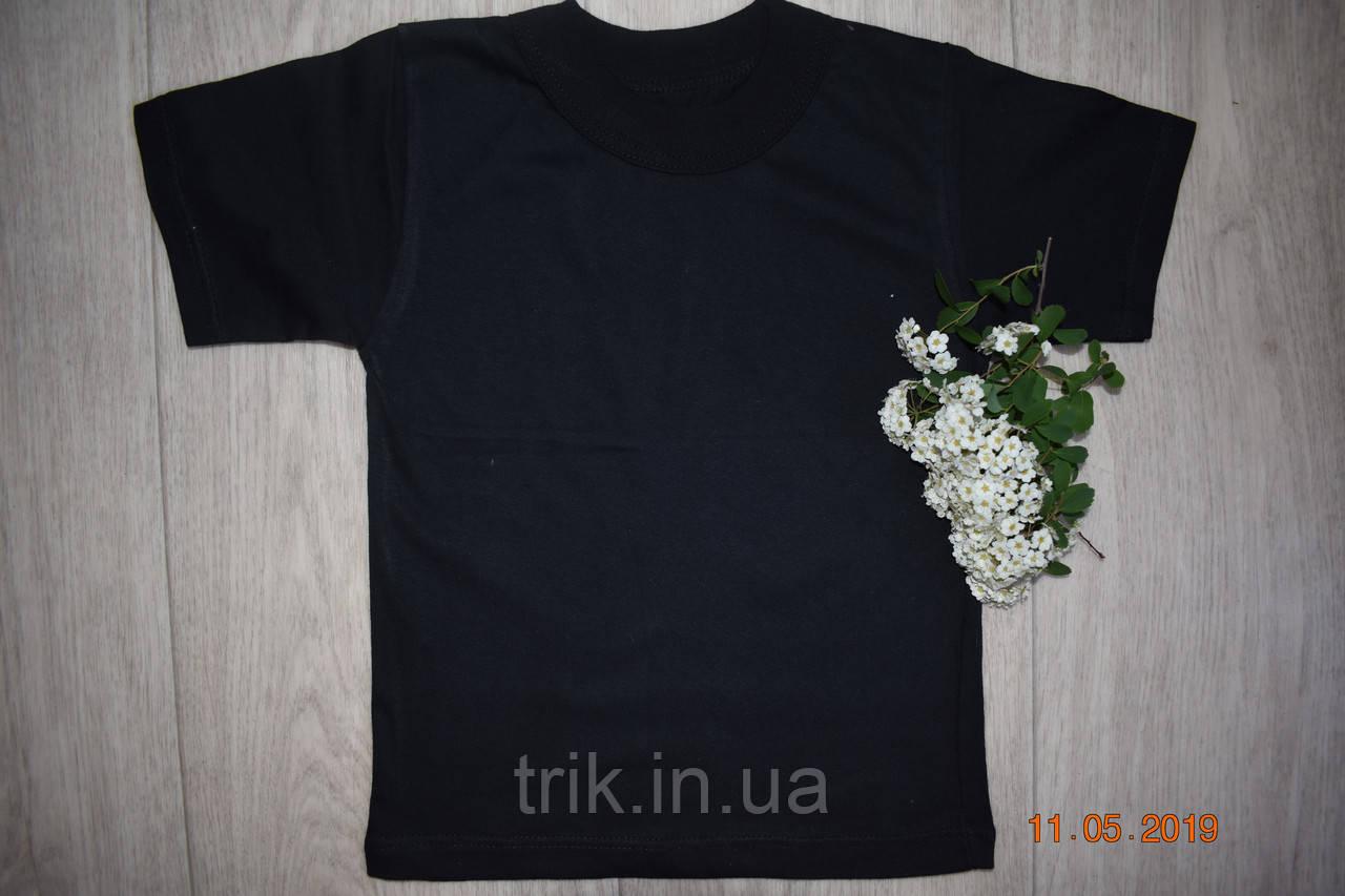 Черная футболка детская