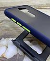Чехол Xiaomi Redmi Note 8 Pro противоударный бампер накладка цветная окантовка/ синий/ зеленый/ черный, фото 2
