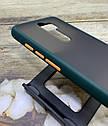 Чехол Xiaomi Redmi Note 8 Pro противоударный бампер накладка цветная окантовка/ синий/ зеленый/ черный, фото 4