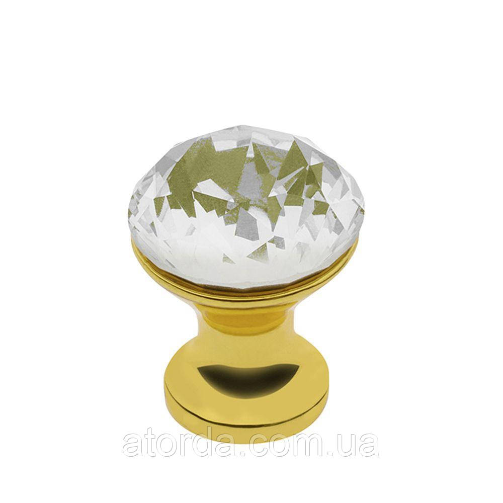 Ручка мебельная GTV Crystal Palace D=20 мм Золото/Кристалл (GZ-CRPB20-03)