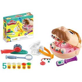 Детский набор для лепки Мистер Зубастик Play-Doh   Детский набор стоматолога пластилин, голова, бо