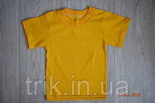 Желтые футболки для мальчиков бейка средняя, фото 2