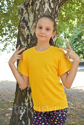 Желтые футболки для девочек бейка средняя, фото 2