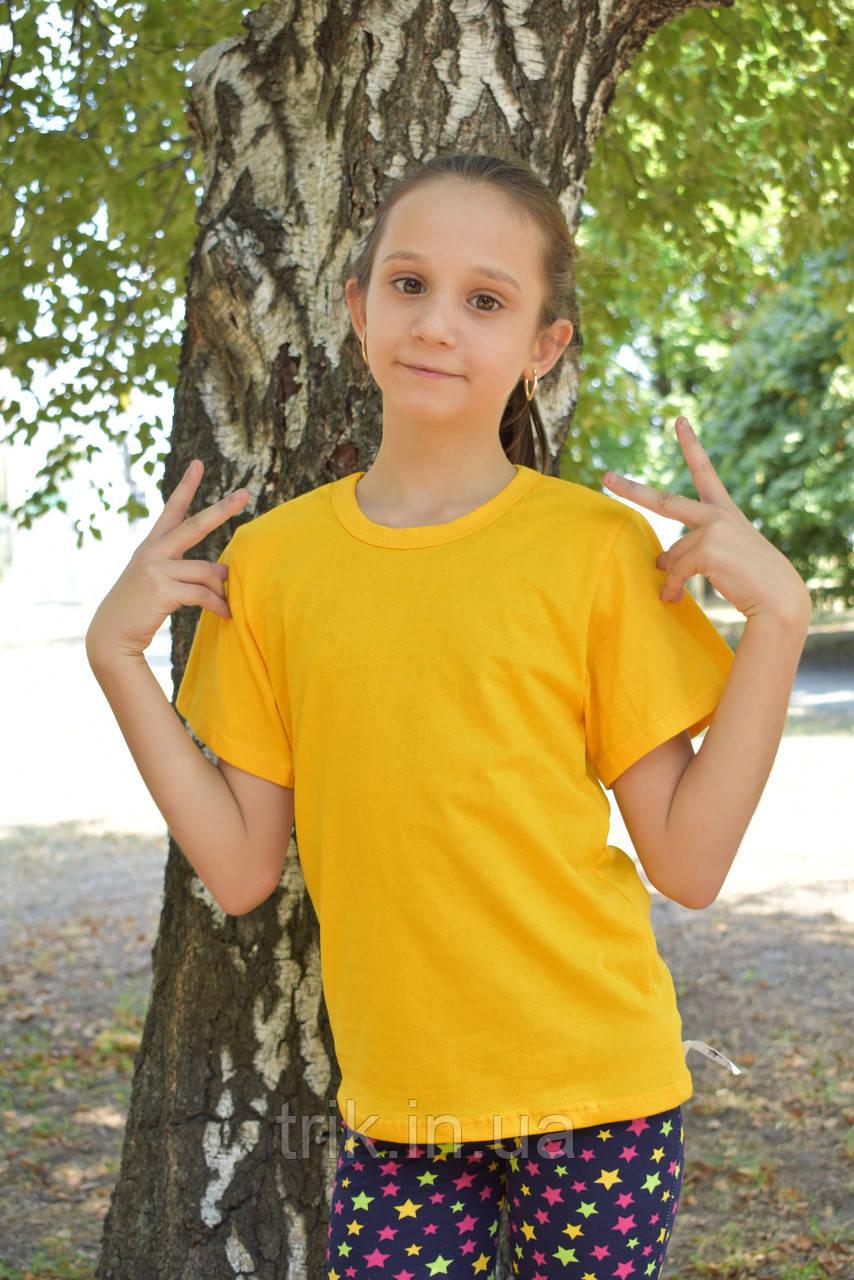 Желтые футболки для девочек бейка средняя