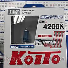 Комплект ламп (2шт) Koito WhiteBeam III 2x H7 4200К P0755W