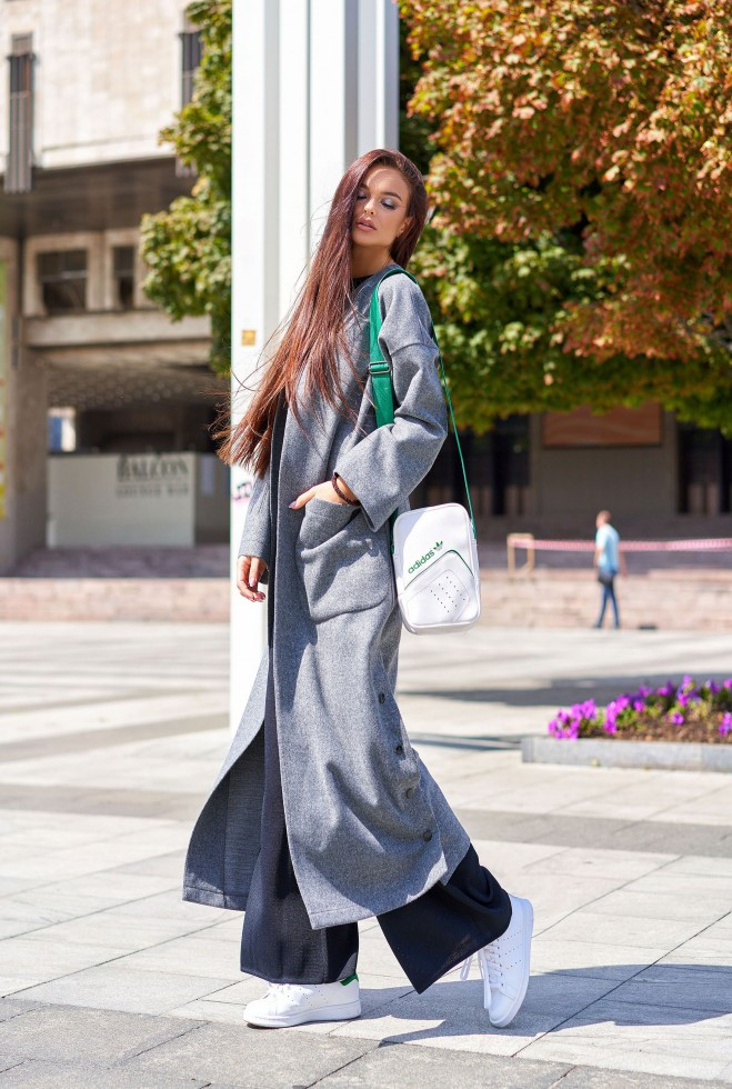 Облегченное пальто Мириам тёмно-серый s