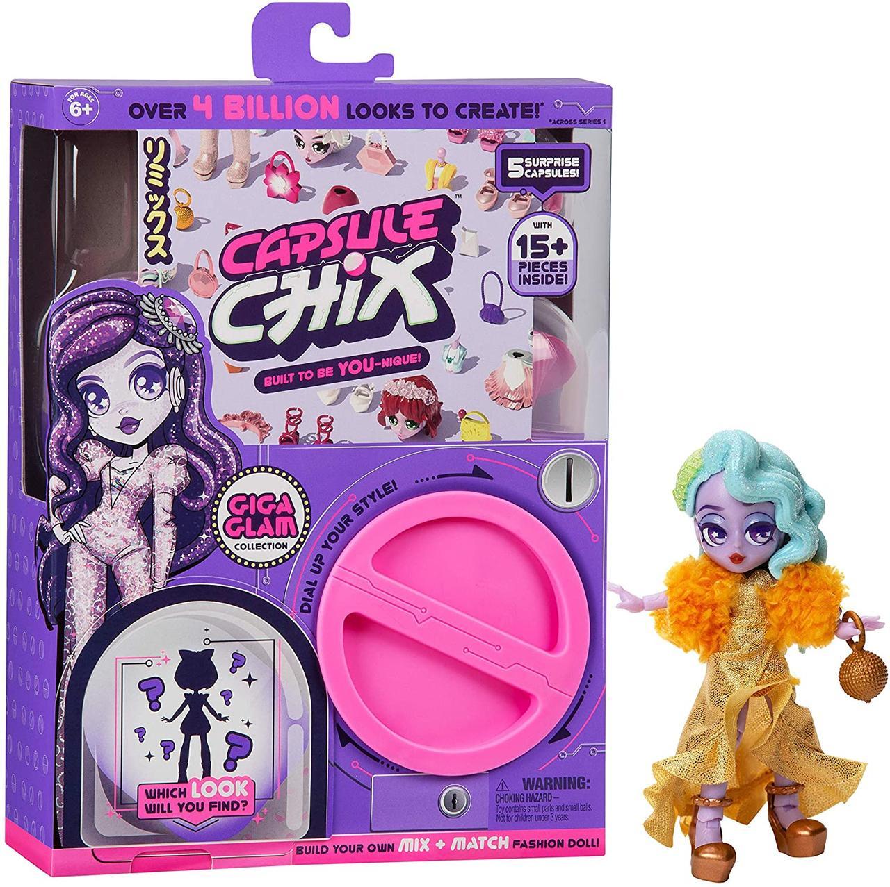 Кукла-сюрприз Капсул Чикс Гига Глэм Capsule Chix Giga Glam